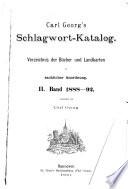 Karl Georgs Schlagwort katalog