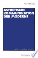 sthetische Kommunikation der Moderne