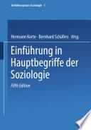 Einführung in Hauptbegriffe der Soziologie