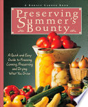 Preserving Summer s Bounty