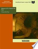 Memoir of Fr. Vincent De Paul Religious of La Trappe