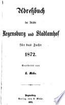 Adreßbuch der Städte Regensburg und Stadtamhof