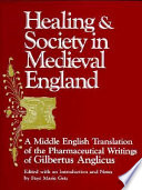 Healing and Society in Medieval England