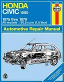 Honda Civic 1500   CVCC Owners Workshop Manual