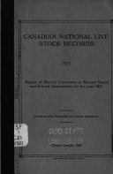 Report of Record Committee to the Record Board and Record Associations for the Year Book PDF
