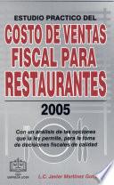 Costo de ventas Fiscal para Restaurantes