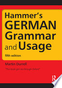 Hammer s German Grammar and Usage