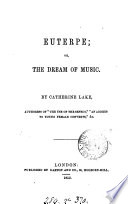 Euterpe  or  The dream of music  a poem