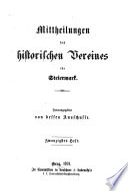 Mittheilungen des Historischen Vereines für Steiermark