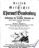 Die Regierung des zweiten Preußischen Königs, Friedrich Wilhelm, nebst den zur ältern Geschichte noch rückständigen Urkunden