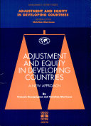 Adjustment and Equity in Developing Countries