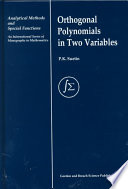 Orthogonal Polynomials in Two Variables