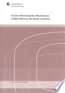 Factors influencing the effectiveness of R D efforts in the Nordic countries