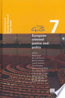 European Criminal Justice and Policy