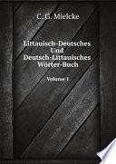Littauisch Deutsches Und Deutsch Littauisches W rter Buch