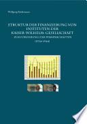 Struktur der Finanzierung von Instituten der Kaiser-Wilhelm-Gesellschaft zur Förderung der Wissenschaften (1924–1944)