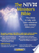 Ministers Bible  NIV Black