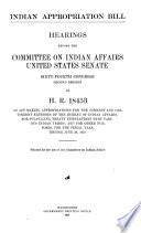 Indian Appropriation Bill