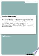 """Das Verhältnis der Geschlechter im """"Prozess der Zivilisation"""" von Norbert Elias und in den """"Männerphantasien"""" von Klaus Theweleit"""