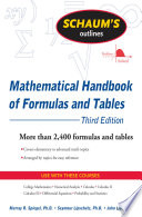 Schaum s Outline of Mathematical Handbook of Formulas and Tables  3ed