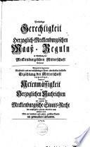 Vertheidigte Gerechtigkeit der Herzoglich Mecklenburgischen Maasz Regeln in Ansehung der Mecklenb  Ritterschaft