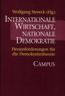 Internationale Wirtschaft, nationale Demokratie