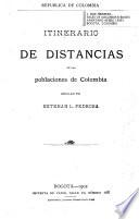Itinerario de distancias de las poblaciones de Colombia