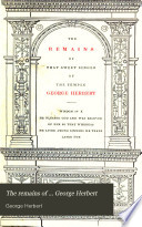 The remains of     George Herbert