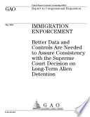 Immigration enforcement better data and controls are needed to assure consistency with the Supreme Court decision on longterm alien detention : report to congressional requesters.