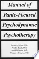 Manual of Panic focused Psychodynamic Psychotherapy Book PDF