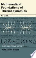 Mathematical Foundations of Thermodynamics