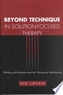 Beyond Technique in Solution focused Therapy Book PDF