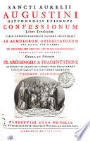 Sancti Aurelii Augustini Hipponensis Episcopi Confessionum Libri Tredecim