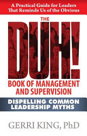 The Duh Book Of Management And Supervision