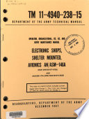 Operator, Organizational, DS, GS, and Depot Maintenance Manual