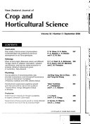 Book New Zealand Journal of Crop and Horticultural Science