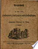 Verzeichnis der im Jahre ... Geborenen, Getrauten und Gestorbenen in der evangelischen Gemeinde St. Mang in Kempten/Allgäu