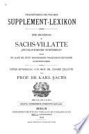 Französisch-deutsches Supplement-Lexikon