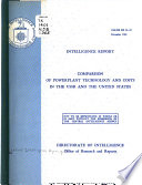 Comparison Of Powerplant Technology And Costs In The Ussr And The United States