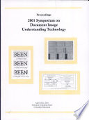 Proceedings 2001 Symposium on Document Image Understanding Technology