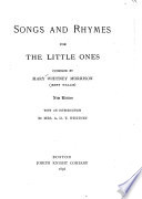 Songs and Rhymes for the Little Ones