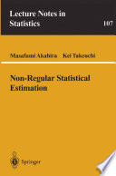 Non Regular Statistical Estimation