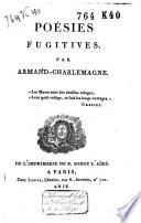 Poésies fugitives