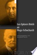 Leo Spitzers Briefe an Hugo Schuchardt