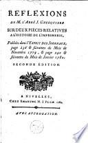 Réflexions de M. l'abbé J. Ghesquière sur deux pièces relatives à l'histoire de l'imprimerie, publiées dans l'Esprit des journaux, page 236 & suivantes du mois de novembre 1779, & page 240 & suivantes du mois de janvier 1780