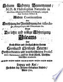 Andere Continuation oder Fortsetzung der Verthädigung der Astrologie ... gegen ... L. Chr. Sturm