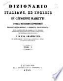 Dizionario italiano, ed inglese