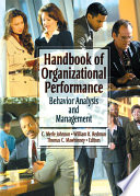Handbook of Organizational Performance