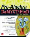 Pre Algebra DeMYSTiFieD  Second Edition