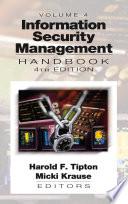 Information Security Management Handbook  Fourth Edition